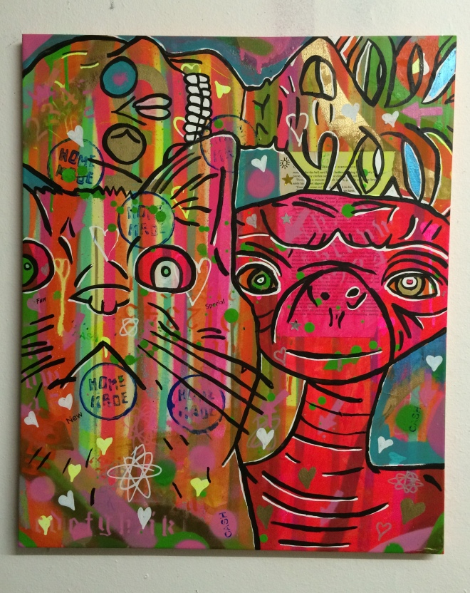 %22Fast particles go to yoga%22 by Barrie J Davies 2015