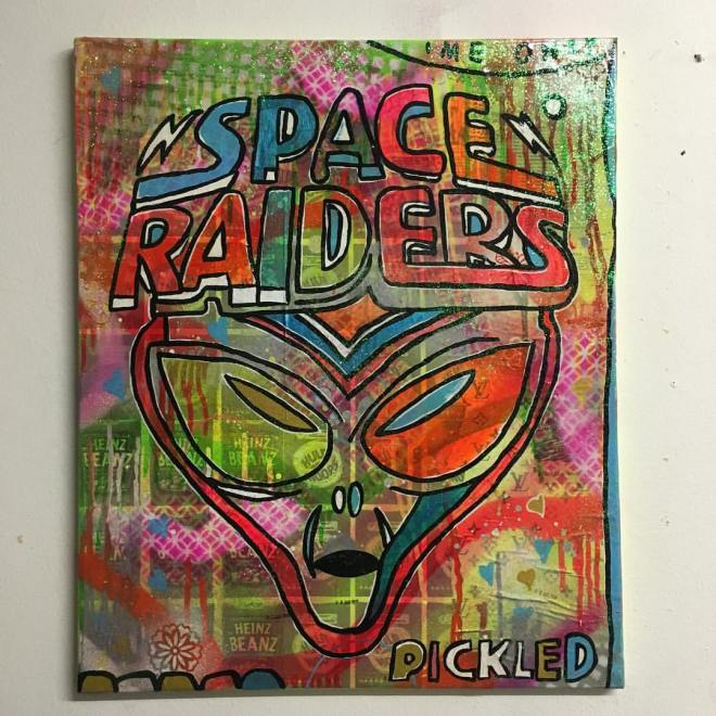 """Man it feels like space again by Barrie J Davies 2016"