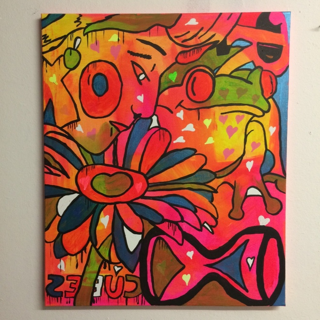 """Super fantastic"" by Barrie J Davies 2015, acrylic paint on canvas 50cm x 60cm"
