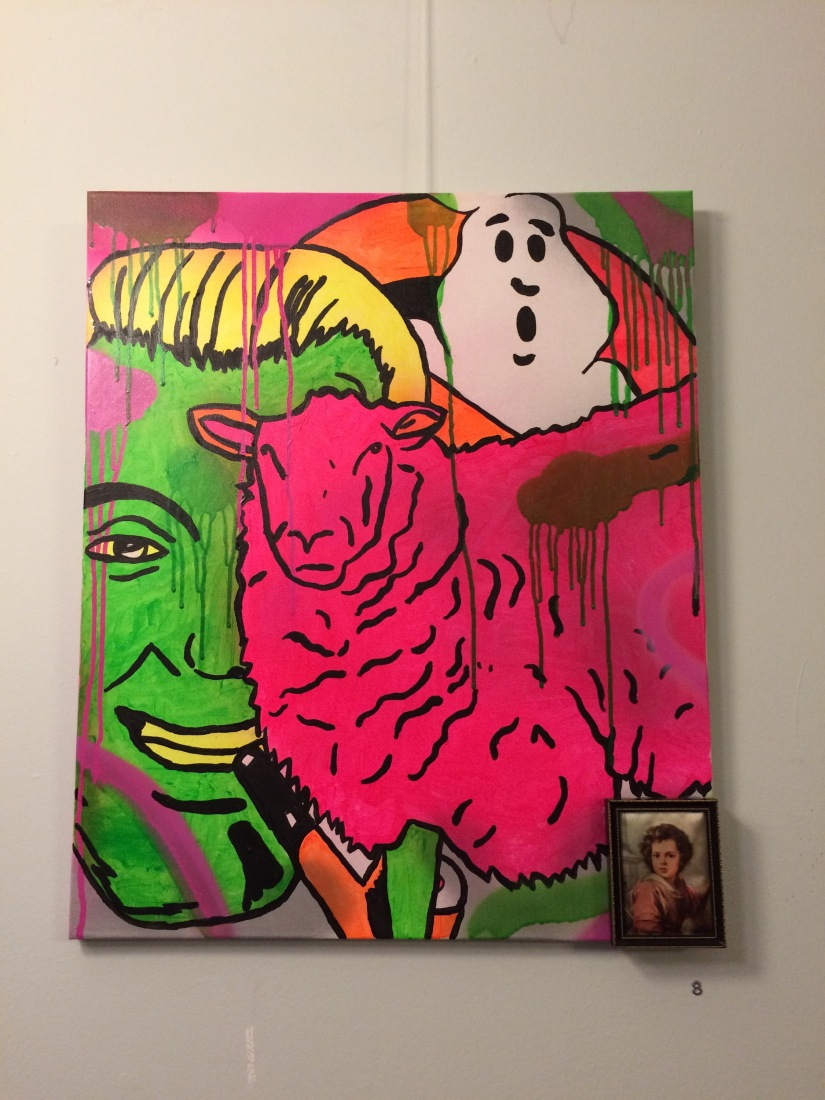 UNDER NEON LONELINESS Solo Exhibition by Barrie J Davies at Blackwood Miners Institute 2014