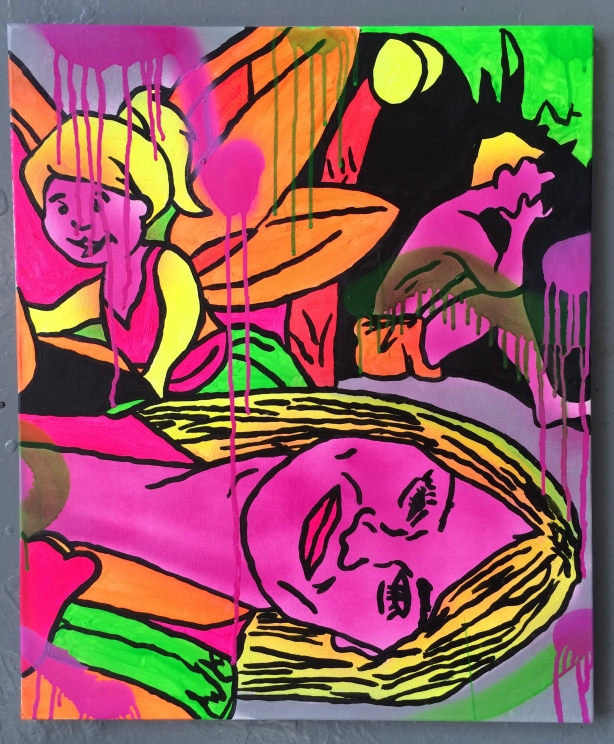 Lady of the internet by Barrie J Davies 2014