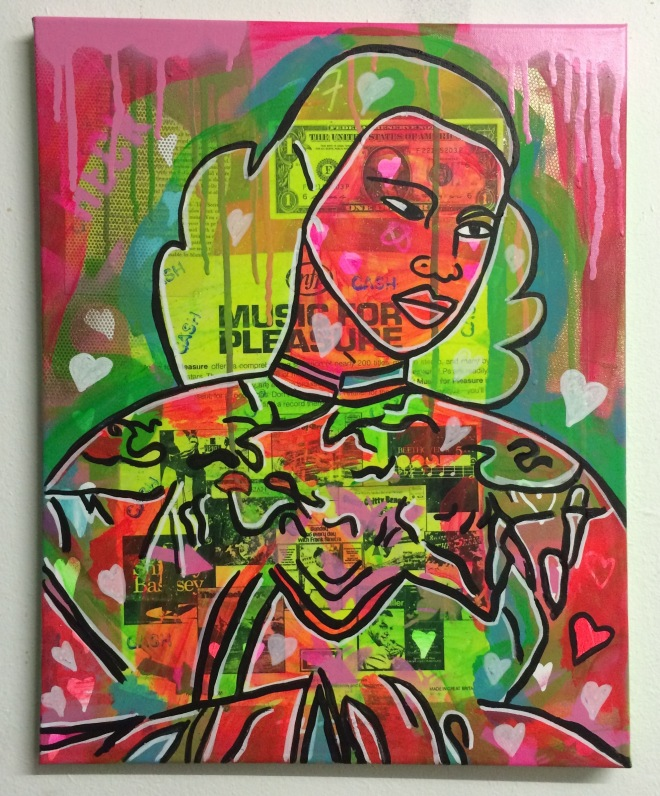 the rainbow lady by Barrie J Davies 2015