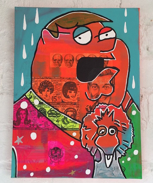 %22Halcyon%22 by Barrie J Davies 2015, mixed media on canvas, 30cm x 20cm