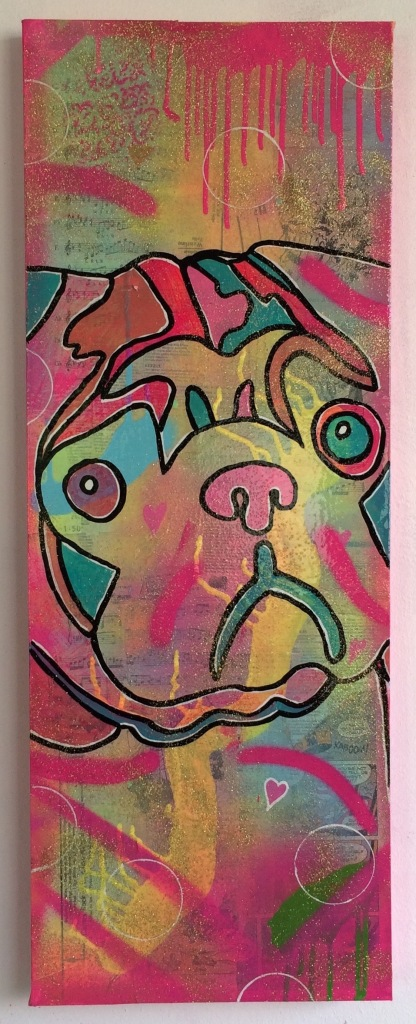 Pug Love by Barrie J Davies 2015