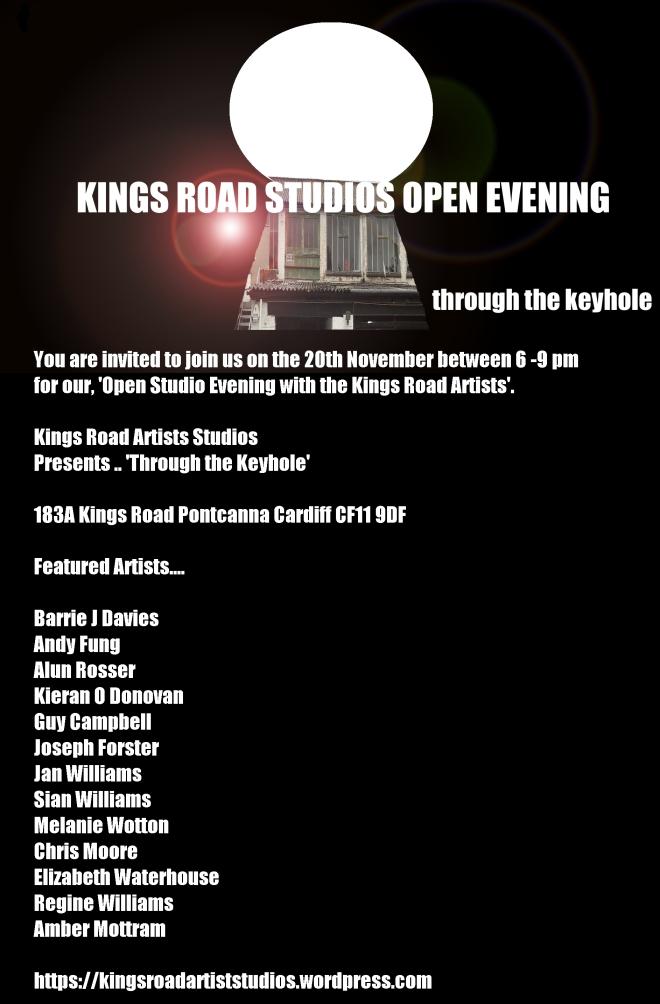 kings road artist studios open evening poster