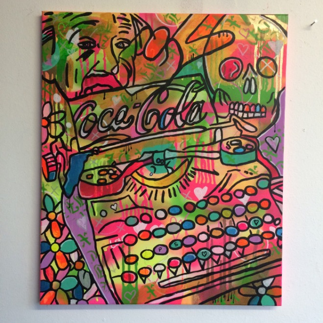 Philippa's psychedelic typewriter by Barrie J Davies 2015